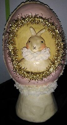 Retired Springtime Greetings Nicol Sayre Sculpture Artwork Easter Rabbit HTF