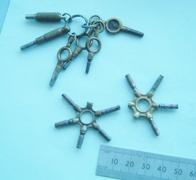 Watchmakers pocket watch winder keys some are damaged pocket watch collector