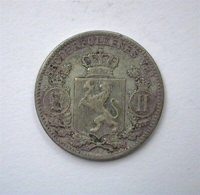 Norway 1898 25 Ore  Extremely Fine