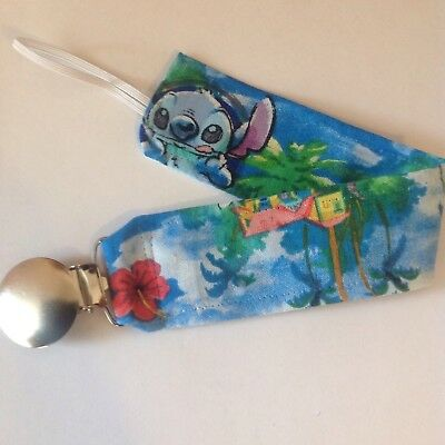 Baby Girl Boy Pacifier Clip Holder Leash Disney Lilo And Stitch Stitch House