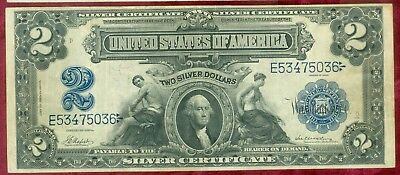 Fr 254-Series of 1899 Large Size $2.00 Silver Certificate-Very Nice