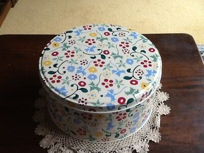 Emma Bridgewater, small Cake storage Tins,NEW Polka Dot Floral pattern.20x9.5cms