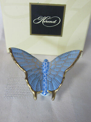 Herend Butterfly Blue Fishnet Brand New In Box #vhbm-15063-0-00 Butterfly