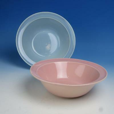 Taylor Smith Company - Pastel LuRay - 2 Nappy Serving Bowls - 8¾ inches