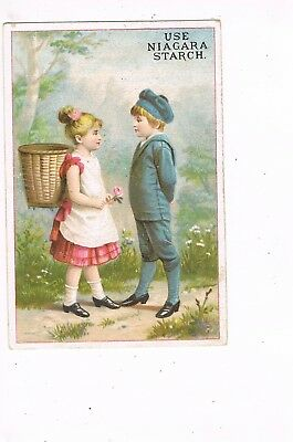 VICTORIAN ADVERTISING / TRADE Card       NIAGARA STARCH