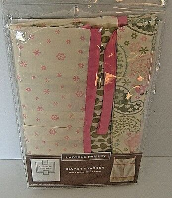 Kenneth Brown Baby Limited Edition Ladybug Paisley Diaper Stacker-New  (t-b)
