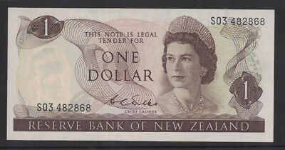 1968/75 New Zealand One Dollar Wilks VF S03 482868