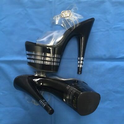 Pleaser Adore Black Pole Dancing Shoes - Size 6 (Ladies)
