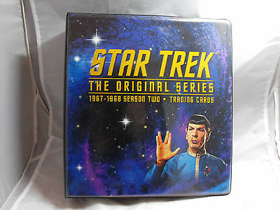 STAR TREK THE ORIGINAL SERIES SEASON 2 COLLECTORS BINDER  (damaged)