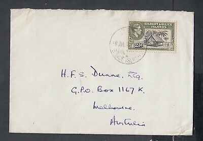 GILBERT & ELLICE ISLANDS 1940s PICTORIAL COVER TO MELBOURNE AUSTRALIA