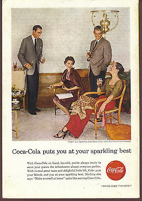 Coca Cola puts you at your sparkling best 1956 Coke ad