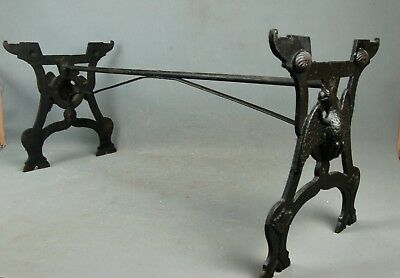 Industrial Machine Age Steampunk Iron Stove Stand Base Table American Eagle