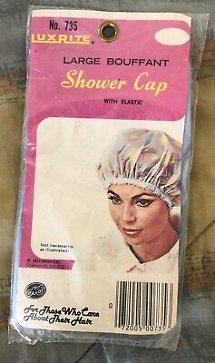 VINTAGE Luxrite 735 GLAM SHOWER CAP BOUFFANT PIN UP GLAM Large New