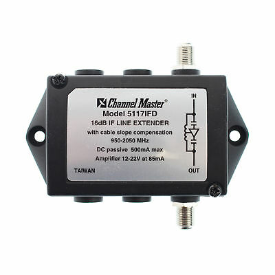 Channel Master 5117Ifd If Line Extender Coaxial Catv Module, 12-22V, 16Db