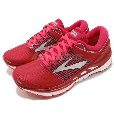 45d839df139 BROOKS TRANSCEND 5 Pink Silver White Women Running Shoes Sneakers 120263 1B  -  156.99