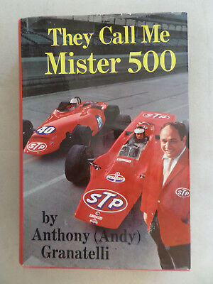 They Call Me Mister 500  By Andy Granatelli 1969  In Lingua Inglese
