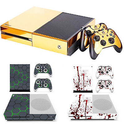 Vinyl Decal Skin Stickers Cover for Xbox One S Console + 2 Controllers AU
