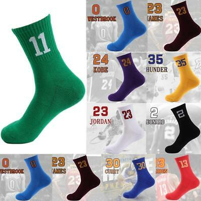 Men's Cycling Riding Bicycle Socks Breathbale Basketball Number Sport Socks ss