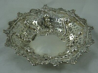 PRETTY VICTORIAN solid silver SWEET DISH, 1895, 59gm - Chester