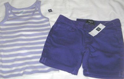 NWT Girls 5 GAP 2 Pc Outfit Shorts and Sleeveless Top NEW