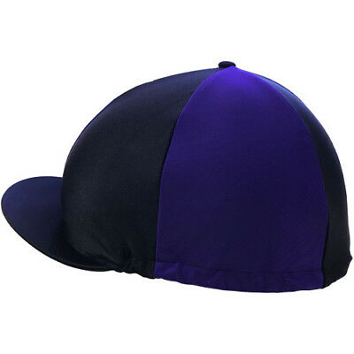 Shires Hat Cover Unisex Safety Wear - Black/purple One Size
