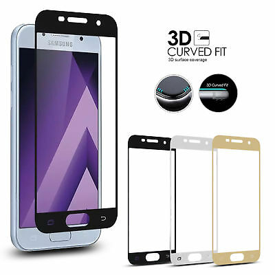 3D Full Cover Tempered Glass Screen Protector For Samsung Galaxy A3 A5 A7 2018