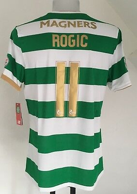 Celtic 2017/18 S/s Home Shirt Rogic 11 By New Balance Size Adults Xl New
