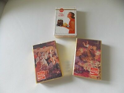1963  Coca- Cola Things go better with coke- series. SEALED deck,& 2 rare others