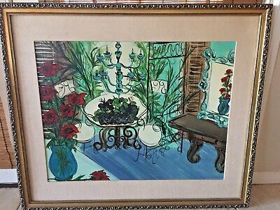 Estate Find Vintage Oil On Canvas  Painting Stunning Gilded Wood Frame Signed!!