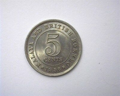 Malaya & British Borneo 1958 5 Cents  Gem+ Uncirculated