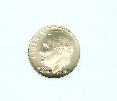 1945 Roosevelt Fantasy 10 Cents - 90% Silver -  Near Perfect Uncirculated