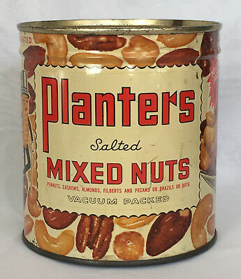 Planters Mr. Peanut Full Can of Mixed Nuts Rare Vintage 15 Ounce