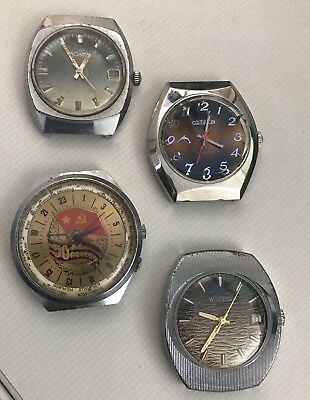 To Fix 🔧 Russian Vintage Watch Lot Poljot Raketa Wostok Cornavin Soviet USSR