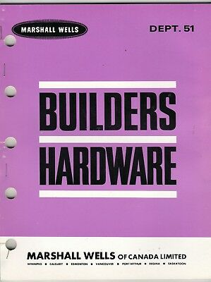 Marshall Wells Builders Hardware Catalog From Store Master 1965 wolc6