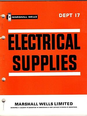 Marshall Wells Electrical Supplies Catalog 1968 From Store Master Catalog wolc6
