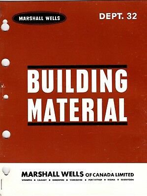 Marshall Wells Building Material Catalog From Store Master 1965 wolc6