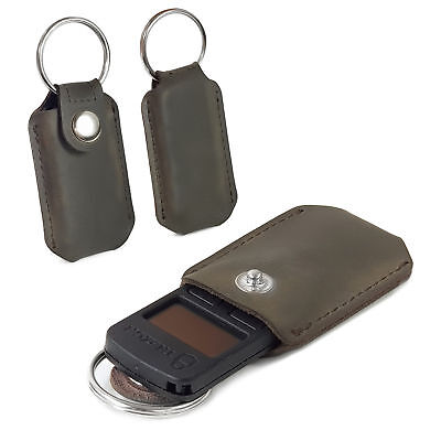 TUFF LUV Western Leather Case Keychain Pocket Clip for Trezor Crypto - Brown