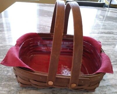 Longaberger Rich Brown Stain Oval Muffin Paprika Great Condition FREE SHIPPING!