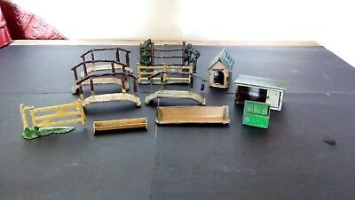 Lovely vintage metal items for toy farm