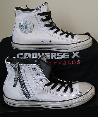 NUOVO CONVERSE di John Varvatos Chuck Taylor All Star zip laterale ALTE US 8