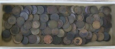 Indian Cent Lot Of 150 Coins Low Grade Cull