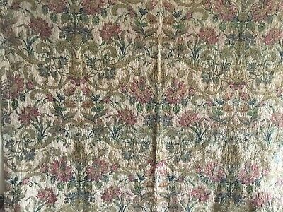 Beautiful 19th C. French Woven Silk, Cotton, Linen and Metallic Tapestry  (2355)