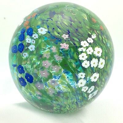 Signed 1991 Peter Raos Paperweight - Monet Series - Spring