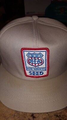 Vintage MFA Agri Services SEED Baseball Trucker cloth cap hat