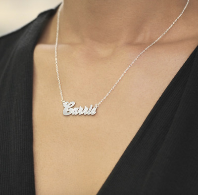 "Personalized Sterling Silver Name Necklace | Gold | Rose Gold | ""Carrie Style"""
