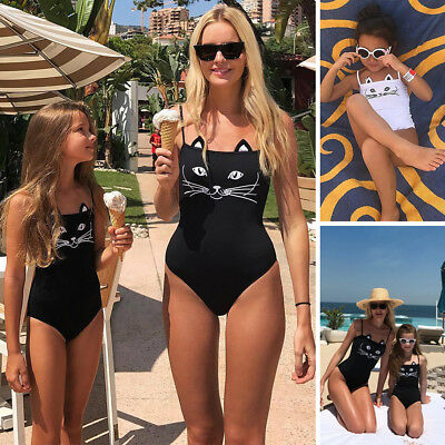 Women Girls Mother Daughter One-Piece Swimsuit Swimwear Bathing Monokini Bikini