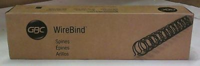 NEW GBC 9775008 WireBind Binding Spines, Black, 100 Spines $55