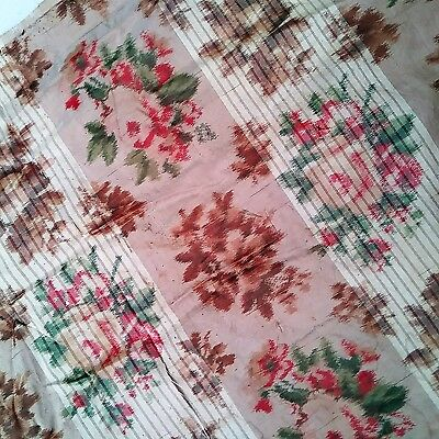 ANTIQUE CIVIL WAR ERA CHINE SILK TAFFETA c.1850s VICTORIAN