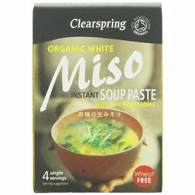 Clearspring Organic Instant Sweet White Miso Paste 60 g (Pack of 4)