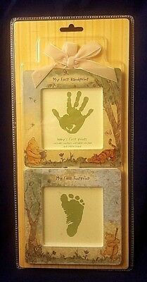 New! POOH BABY'S FIRST PRINTS KIT My First Handprint Disney Frames Ink Pad